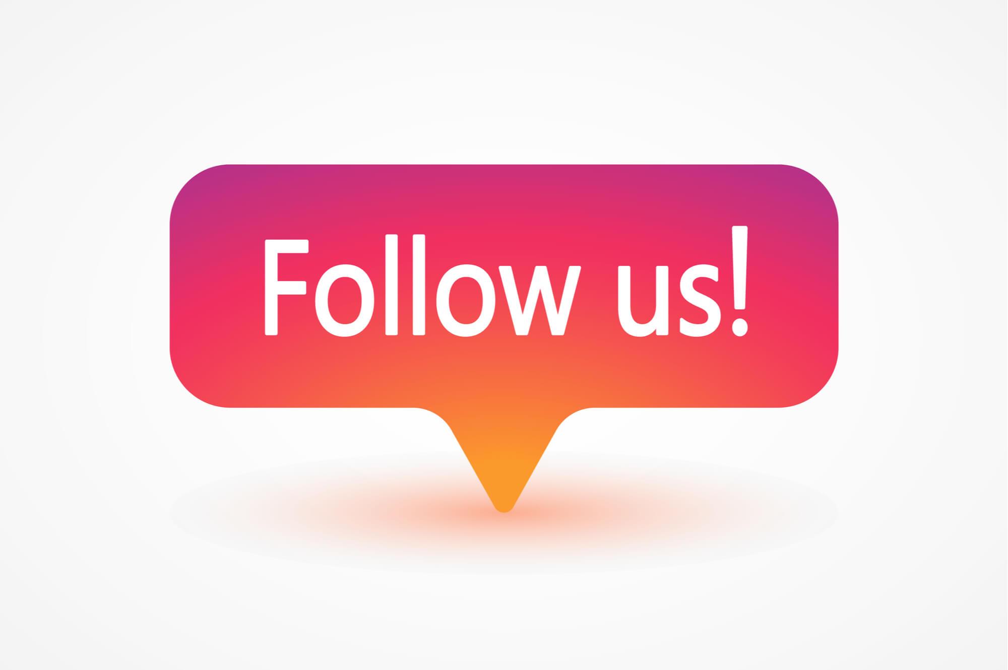 Instagram 'follow us' notification