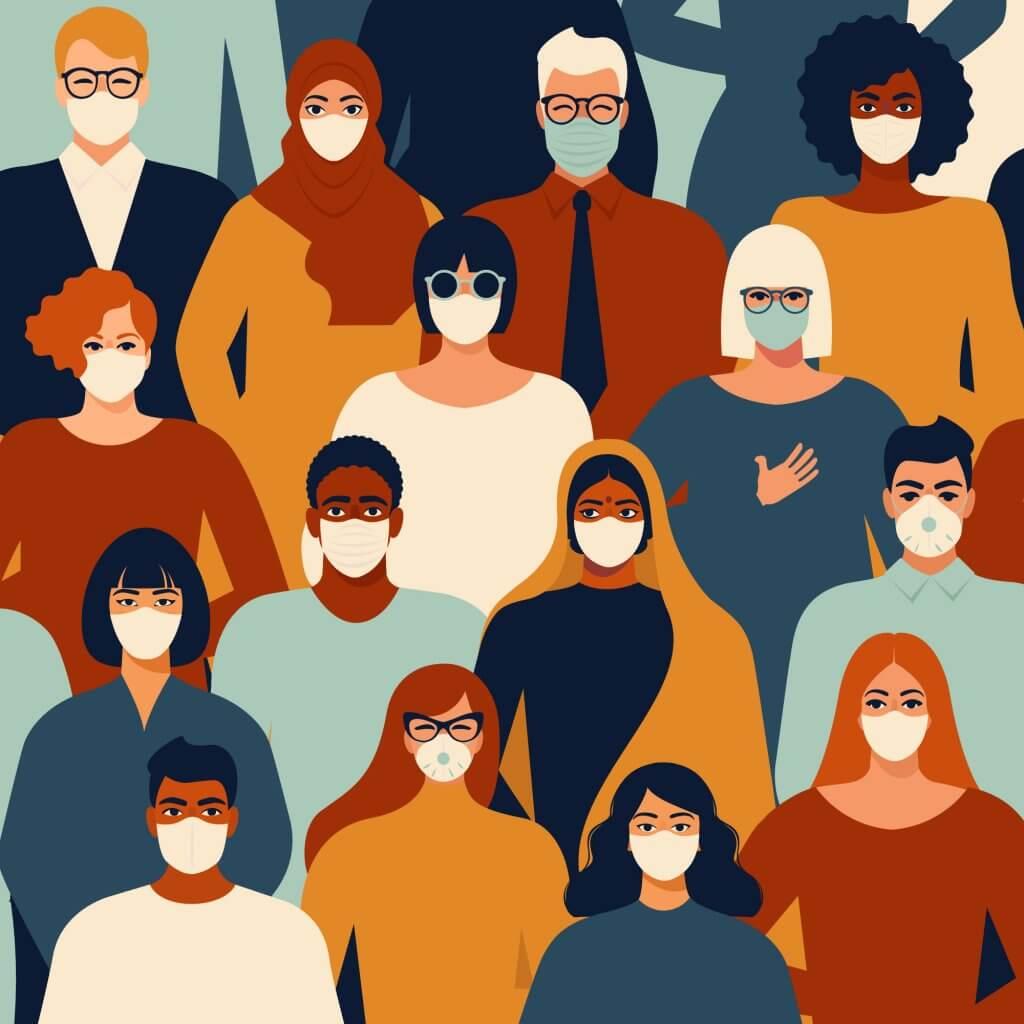 people wearing masks to prevent coronavirus