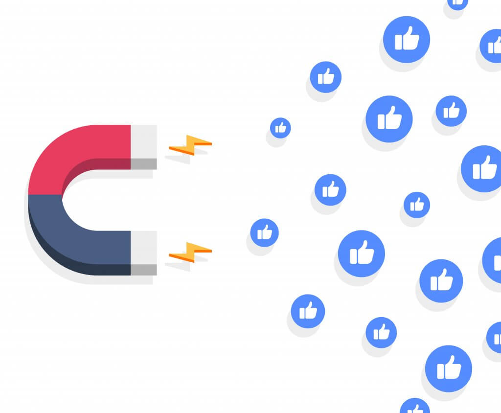 Magnet attracting Facebook engagement