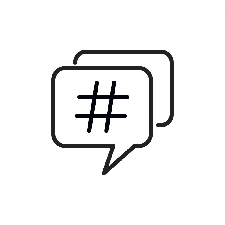 Simple hashtag line icon. Stroke pictogram. Vector illustration isolated on a white background. Premium quality symbol. Vector sign for mobile app and web sites.