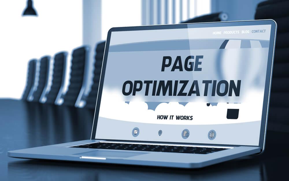 "laptop reading ""page optimization"""