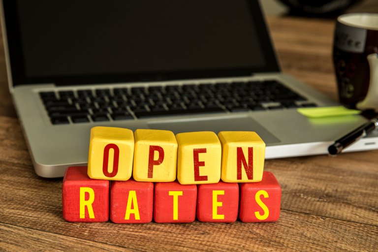 open rates for email marketing campaigns