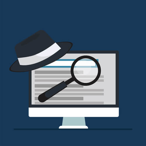 black hat seo concept