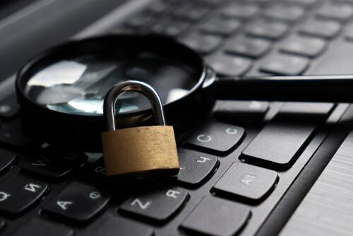 a lock sitting on a keyboard