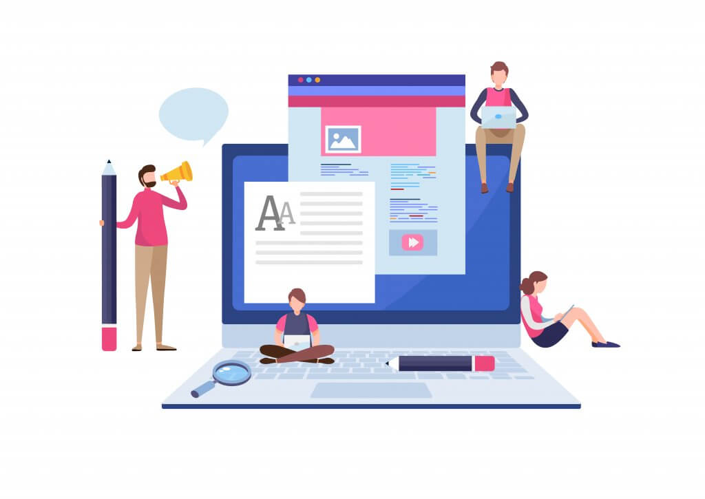 website content in a document and on a website