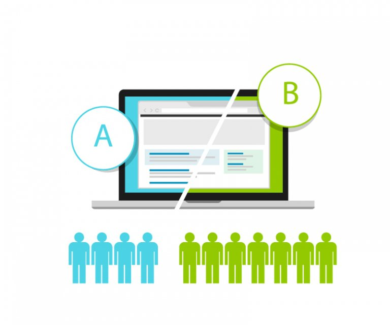 an example of an A/B test for a website