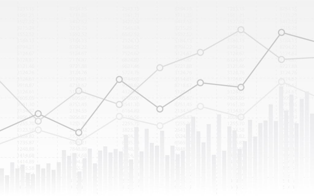 line graphs showing data points