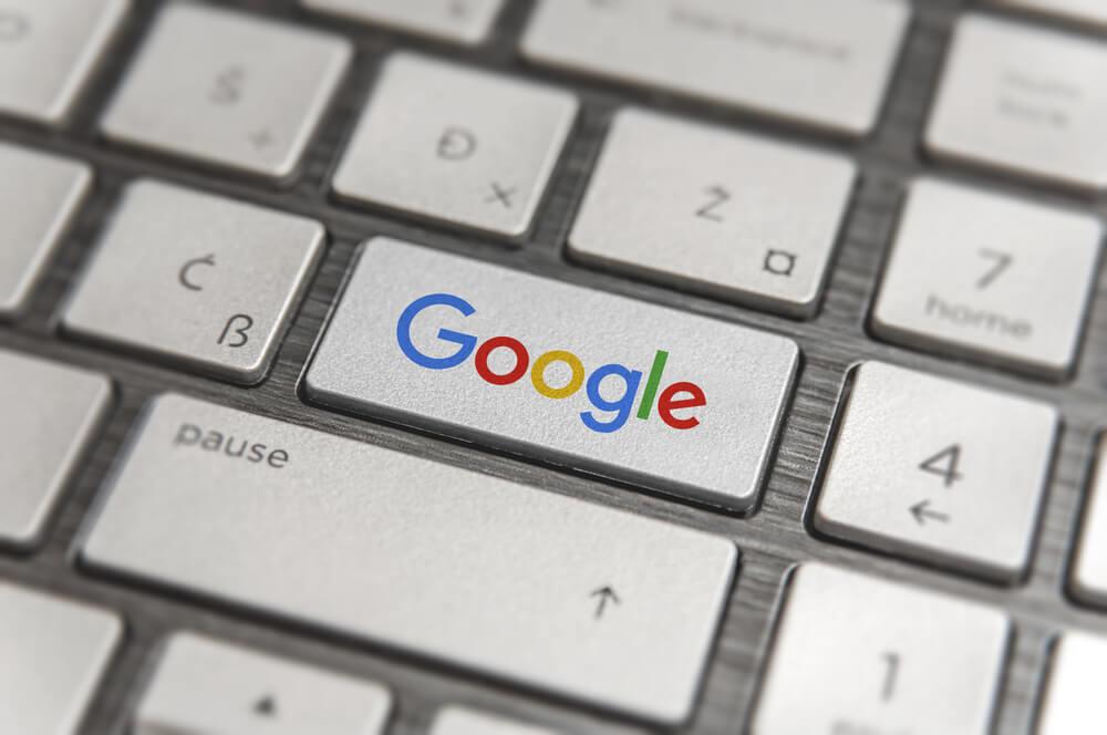 Google written on keyboard
