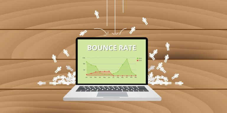 graphic demonstrating bounce rate in a report