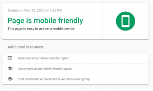 Google Mobile test - moble friendly