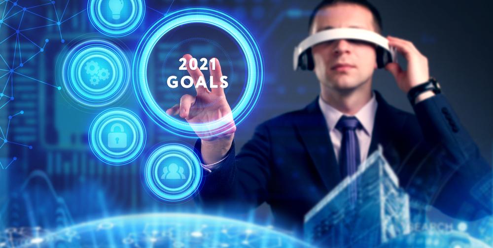 man setting 2021 goals
