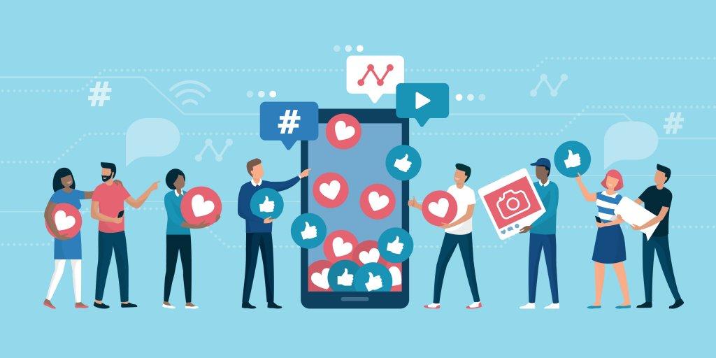 a variety of social media platforms