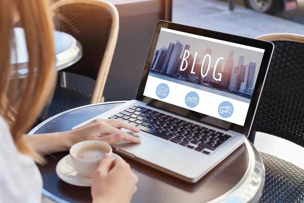 blog written on a laptop