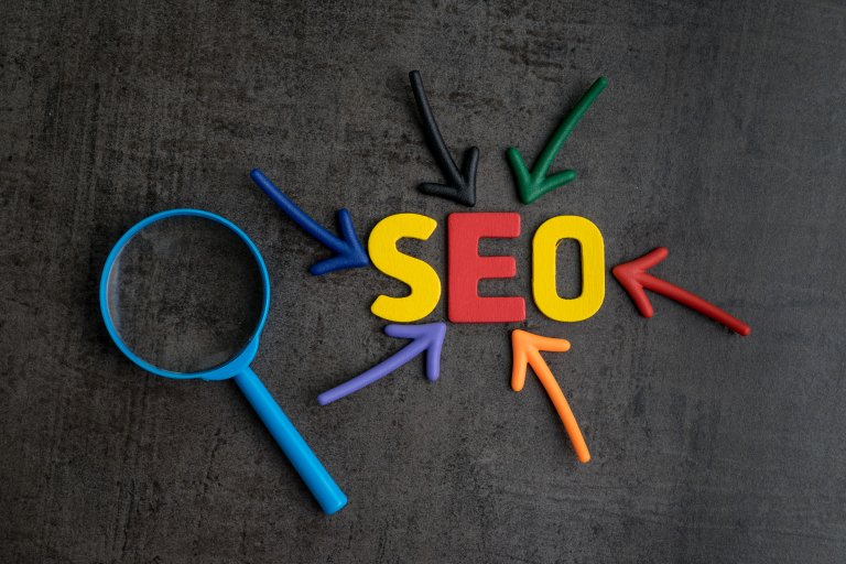 Search Engine Optimization graphic spelled out SEO
