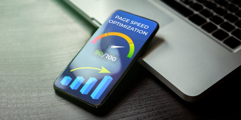 Mobile,Page,Speed,Optimization,Concept.,Website,Page Speed Loading Time