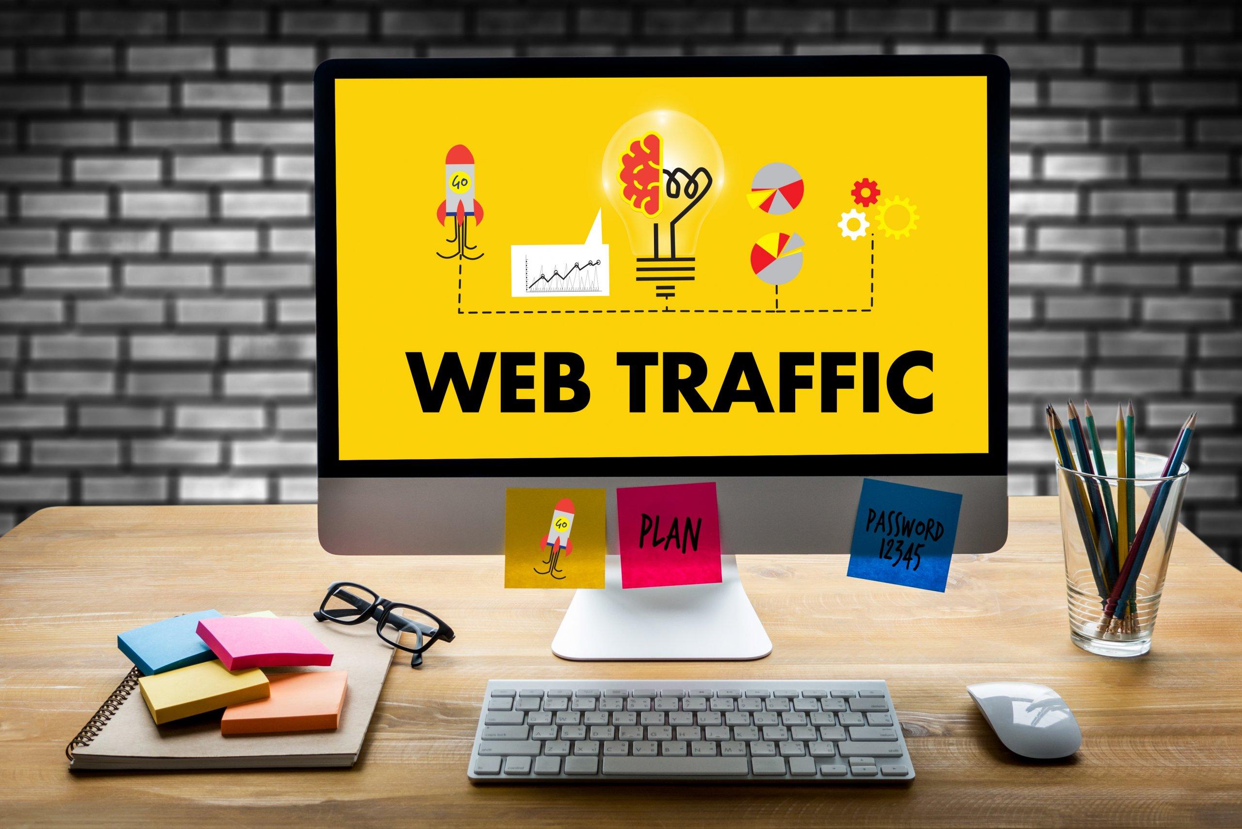 website traffic on desktop