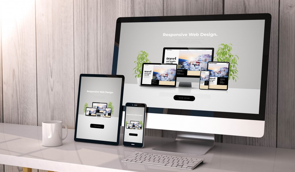 A Website homepage
