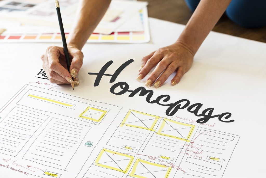 Homepage layout design