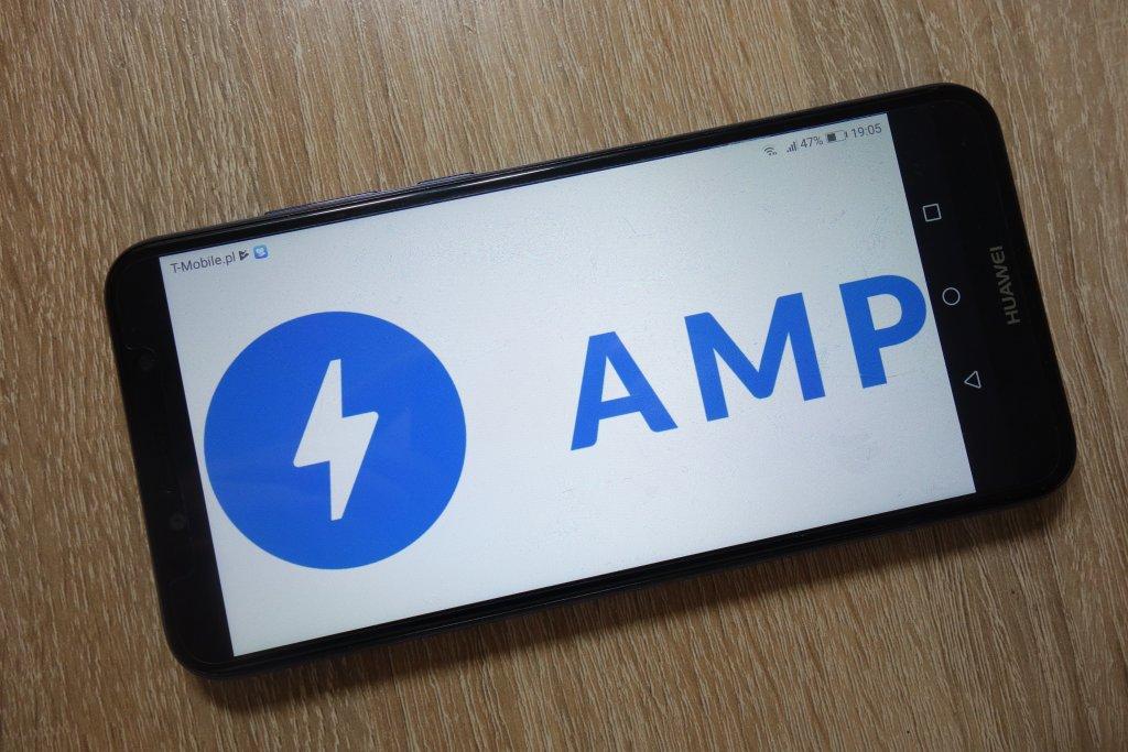 AMP on a phone screen