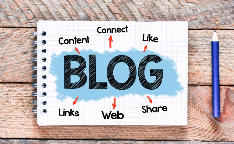 blog written on notepad