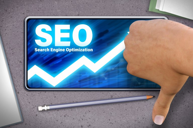 Bad SEO practices thumbs down